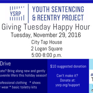 Join YSRP For Happy Hour On Giving Tuesday, November 29